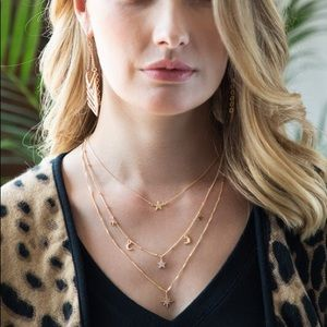 Jewelry - NEW Gold Stars and Moon Multi Layered Necklace